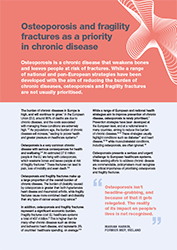 Osteoporosis and fragility fractures as a priority in chronic disease